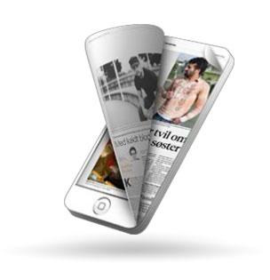 Les eavisen på iPhone